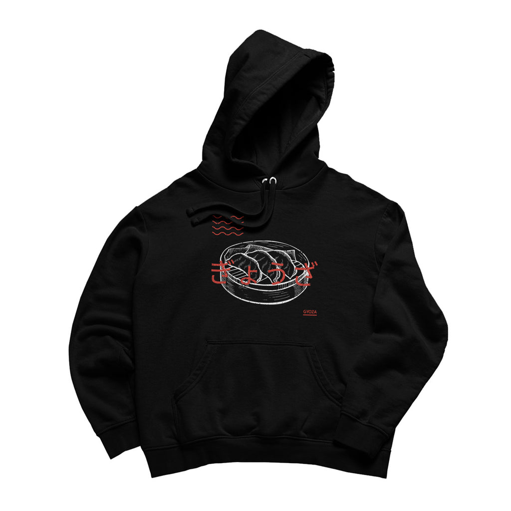 Gyoza Black Hoodie - Just Asian Things
