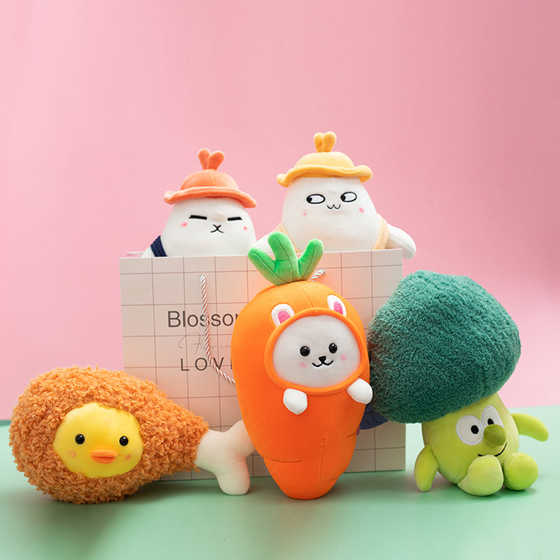 Veggie-Chicken Plushie Pack - Just Asian Things