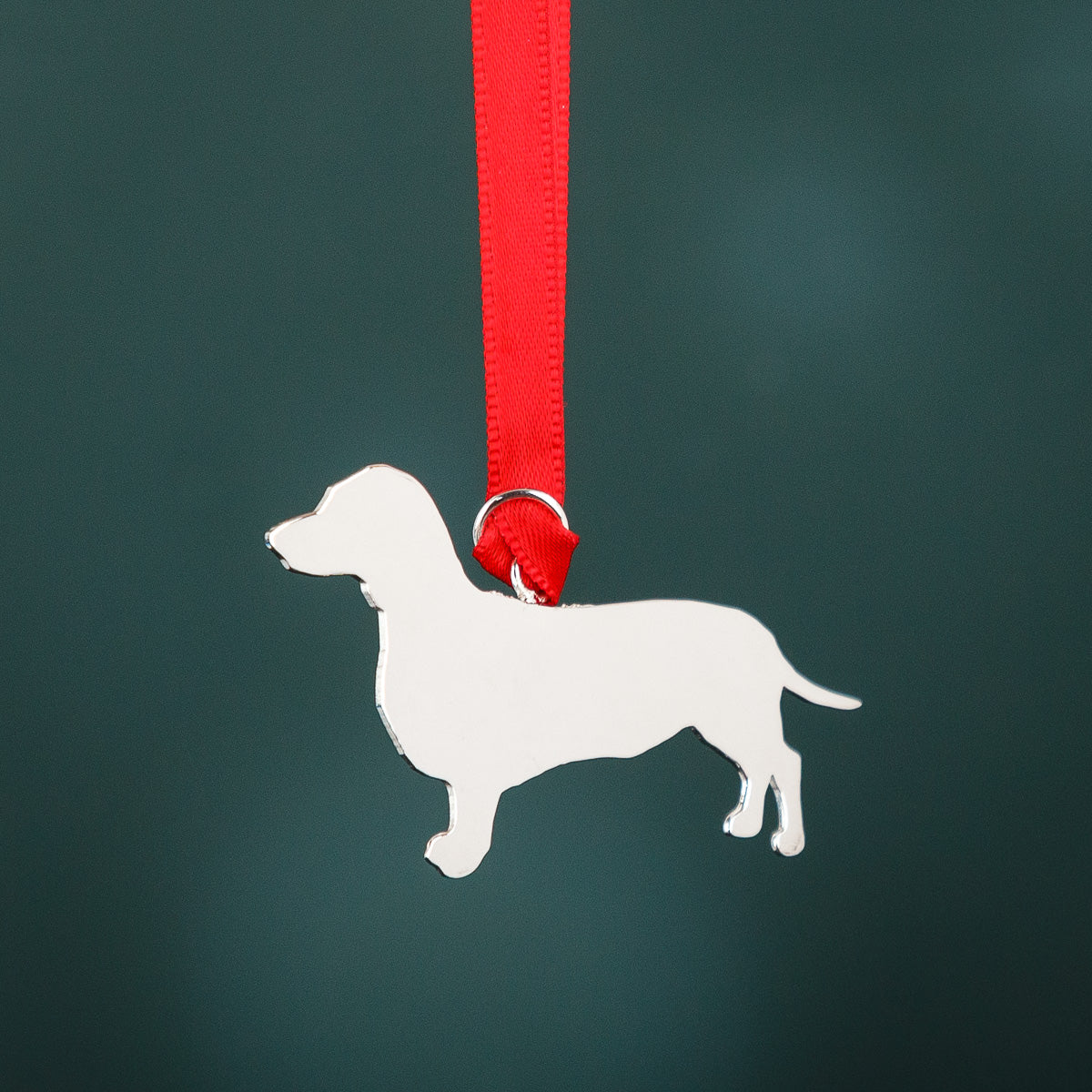 Dachshund Silver Hanging Decoration