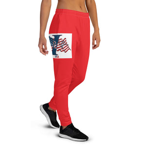 Women's USA red Joggers