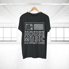 Load image into Gallery viewer, HOUSE MUSIC ALL NIGHT LONG CLOCK T-SHIRT