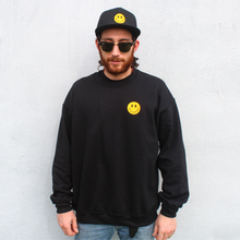 Load image into Gallery viewer, EMBROIDERY ACID HOUSE SMILEY FACE SWEATSHIRT