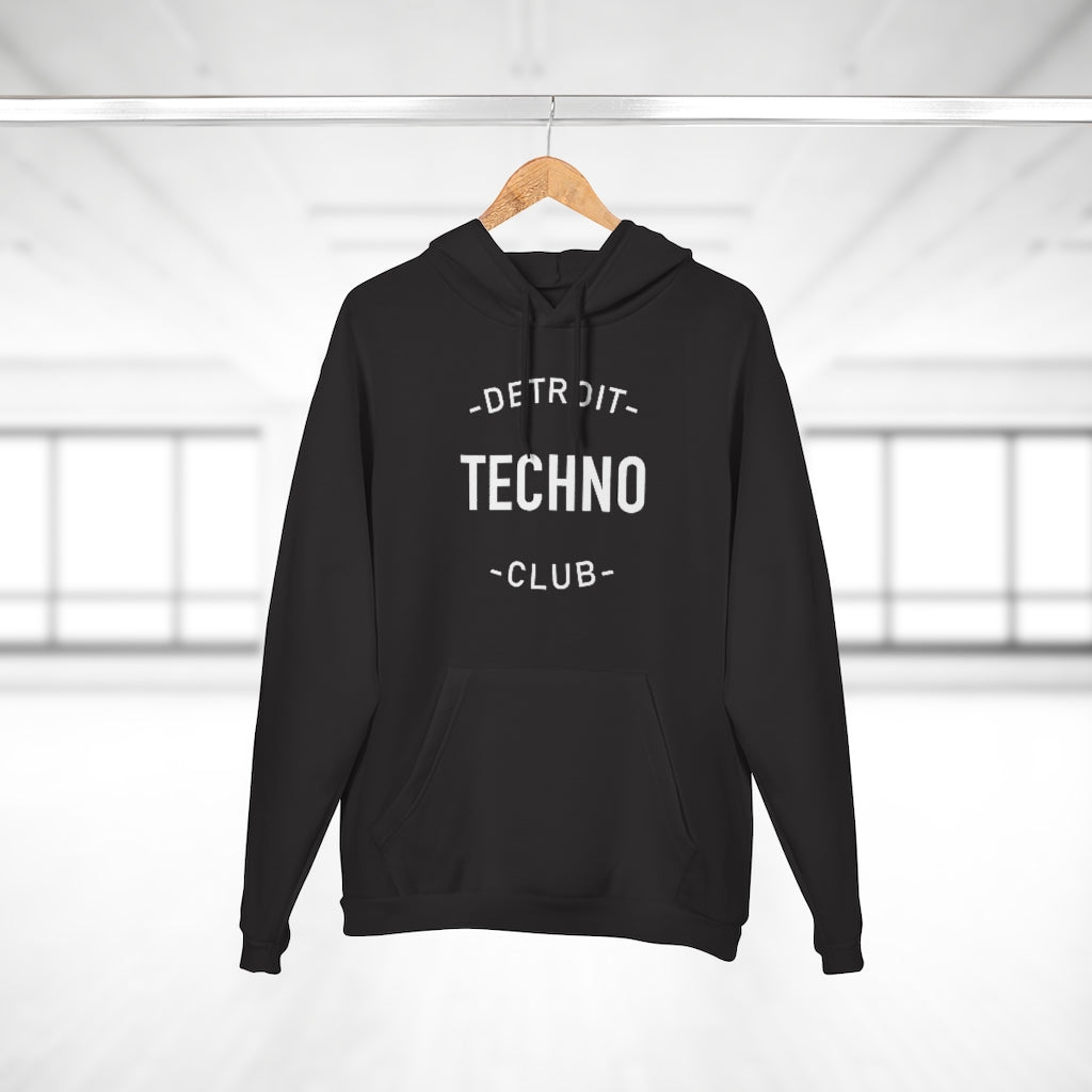 DETROIT TECHNO CLUB ZIPLESS HOODIE
