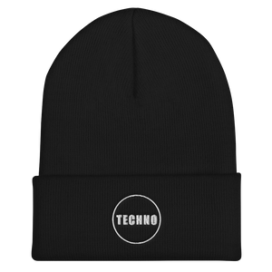 TECHNO MUSIC BEANIE EMBROIDERY