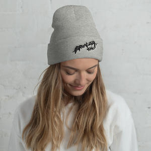 APARENZZA MUSIC EMBROIDERY BEANIE BLACK LOGO