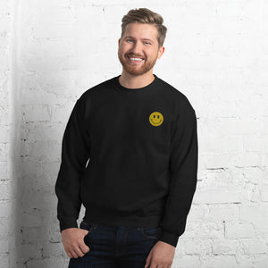 EMBROIDERY ACID HOUSE SMILEY FACE SWEATSHIRT