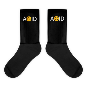 ACID HOUSE - UNISEX BLACK SOCKS
