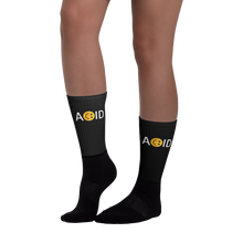 Load image into Gallery viewer, ACID HOUSE - UNISEX BLACK SOCKS