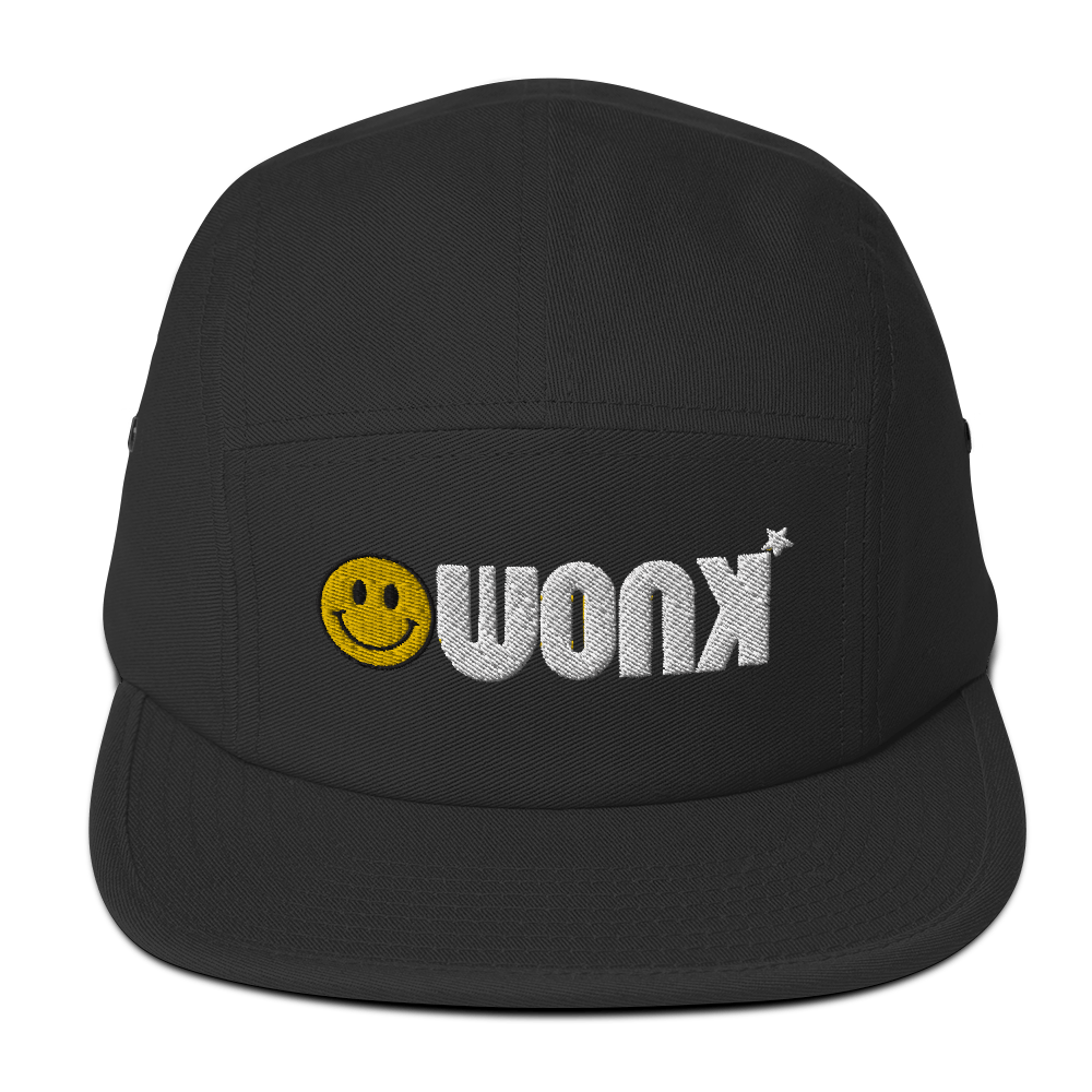 WONK Embroidery Five Panel Cap