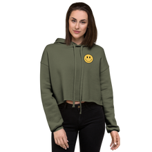 Load image into Gallery viewer, ACID HOUSE SMILEY FACE CROP HOODIE
