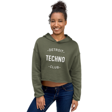 Load image into Gallery viewer, DETROIT TECHNO CLUB CROP HOODIE