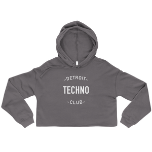DETROIT TECHNO CLUB CROP HOODIE