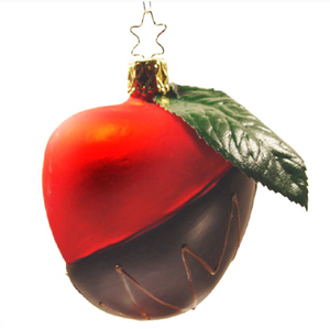 Chocolate Dipped Candy Apple Christmas Ornament Inge-Glas of Germany