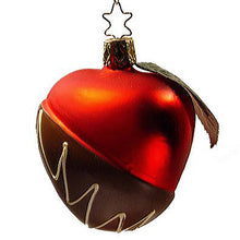 Load image into Gallery viewer, Chocolate Dipped Candy Apple Christmas Ornament Inge-Glas of Germany