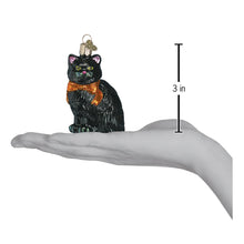 Load image into Gallery viewer, Black Halloween Kitty 26033 Old Christmas Ornament