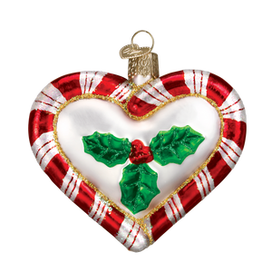 Peppermint Heart 30020 Old World Christmas Ornament