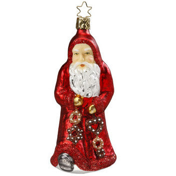 Limited Edition Gingerbread Gifts Santa Ornament Inge-Glas