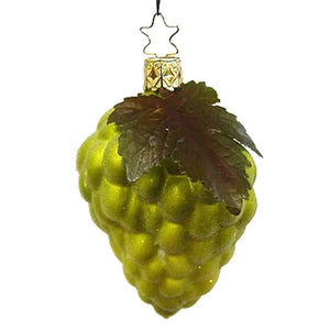 Green Frosted Grapes Christmas Ornament Inge-Glas of Germany 123608