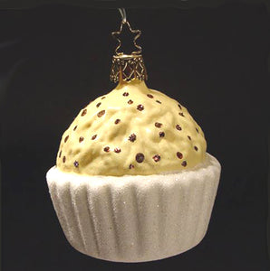 White Chocolate Truffel Treat Christmas Ornament Inge-Glas of Germany