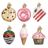 Load image into Gallery viewer, Mini Dessert Set 14026 Old World Christmas Ornaments