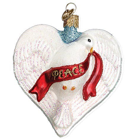 Peace Dove Heart 16087 Old World Christmas Ornament