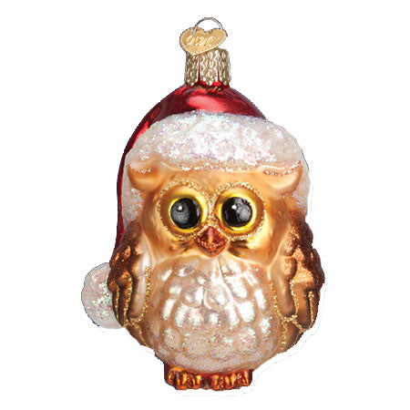Santa Owl 16098 Old World Christmas Ornament