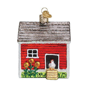 Chicken Coop 16128 Old World Christmas Ornament