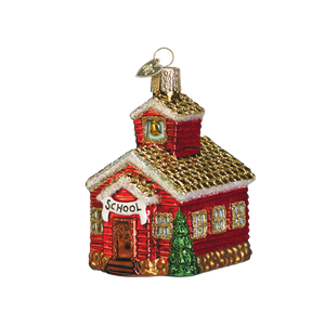 School House 20007 Old World Christmas Ornament