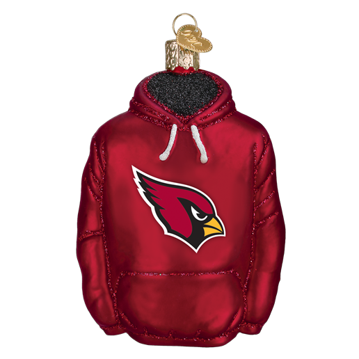 Arizona Cardinals Hoodie 70103 Old World Christmas Ornament