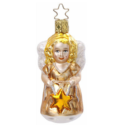 Leading Star Angel Christmas Ornament from Inge-Glas of Germany