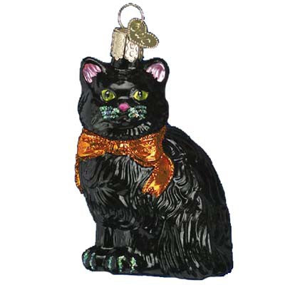 Black Halloween Kitty 26033 Old Christmas Ornament