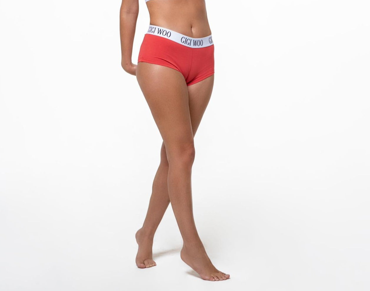 GIGI WOO Boyshort Red