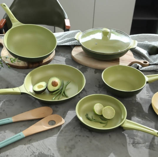 AVOCADO OIL INFUSED NON-STICK FRY PAN 6 PCS SET