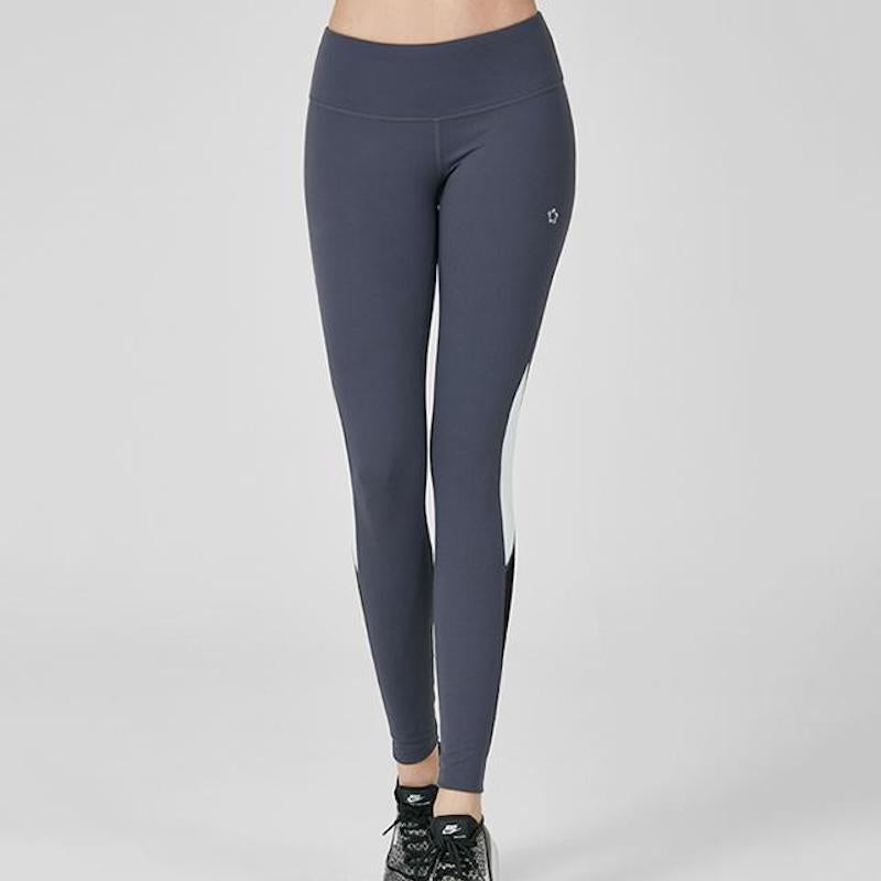 Bias Line Mesh Inset Leggings #Bye Belly Flabs
