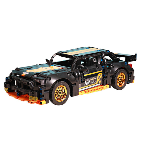 Pull Back Mechanical Sports Racing Car Bricks Model Assembly DIY Building Blocks Toy
