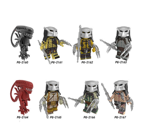 The Predator Minifigures Blocks