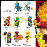 Ninjago: Masters of Spinjitzu Minifigures Blocks