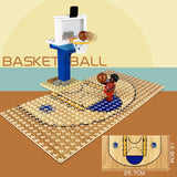 NBA Stars Basketball Court Building Blocks Set