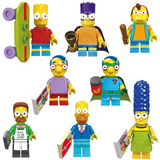 The Simpsons Figures Set Model Assembly Blocks