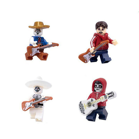 4Pcs/6Pcs Minifigures Blocks