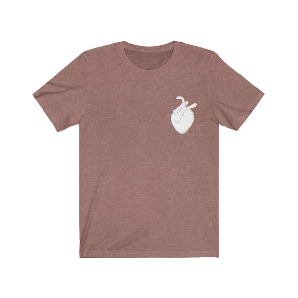 White Cat Heart Shirt