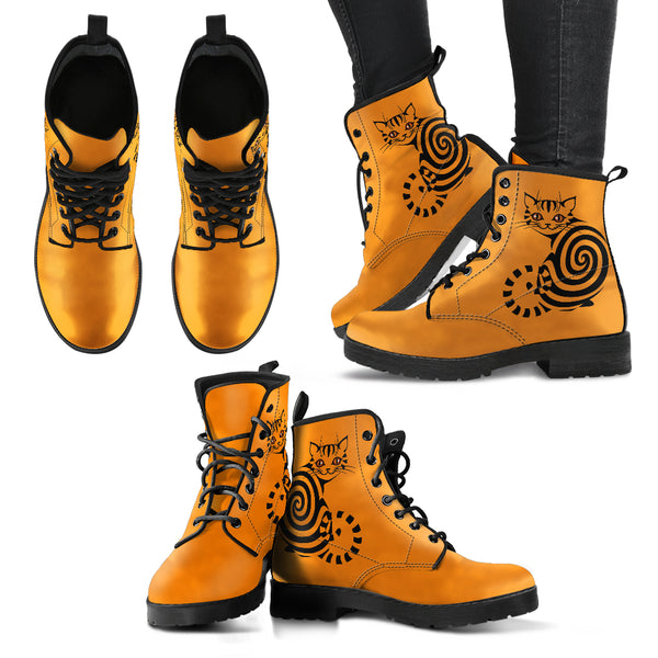 Spiral Cat Women's Leather Boots