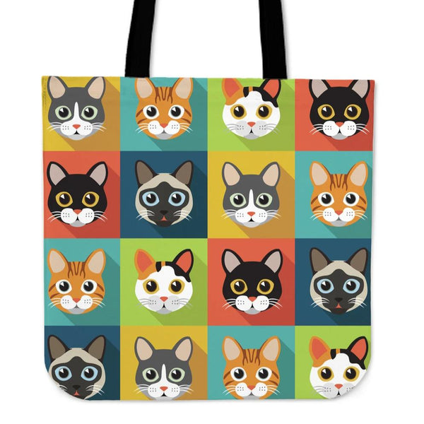 Cute Cats Cloth Tote Bag for Cat Lovers