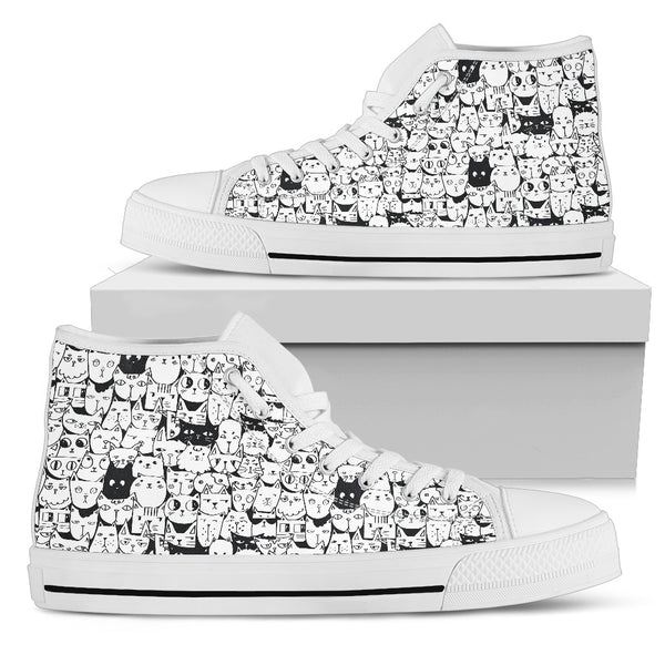 Cats White Women's High Top Shoe