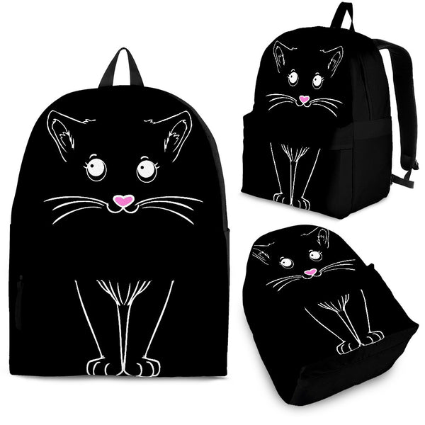 Cute Black Cat Backpack