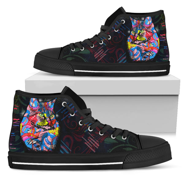 Colourful Cat Women's High Top Shoe