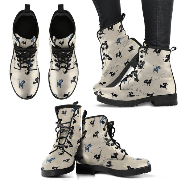 Cute Cats Women's Leather Boots
