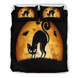 Black Cat Halloween Doona Bedding Set
