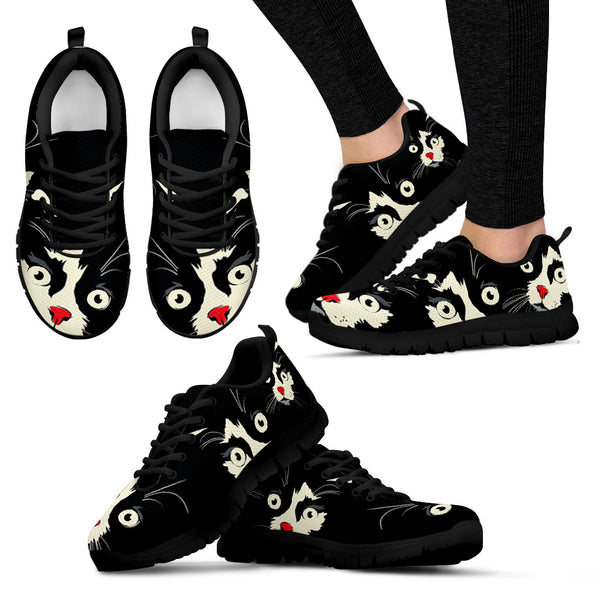 Cute Face Cat Women's Sneakers