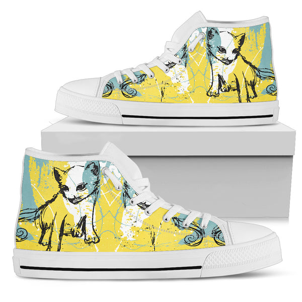 Lovely Cat Women High Top Shoes